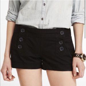 "NWOT-Express black 2"" Stretch Sailor shorts-size 2"